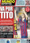 Portada Mundo Deportivo del 28 de Abril de 2014