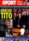Portada diario Sport del 29 de Abril de 2014
