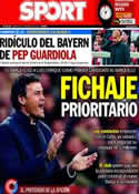 Portada diario Sport del 30 de Abril de 2014