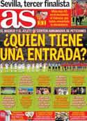 Portada diario AS del 2 de Mayo de 2014