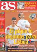 Portada diario AS del 3 de Mayo de 2014