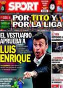Portada diario Sport del 3 de Mayo de 2014