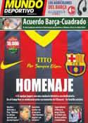 Portada Mundo Deportivo del 3 de Mayo de 2014