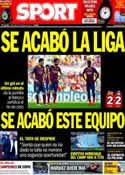 Portada diario Sport del 4 de Mayo de 2014