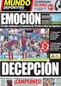 Portada Mundo Deportivo del 4 de Mayo de 2014