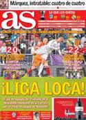 Portada diario AS del 5 de Mayo de 2014