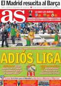 Portada diario AS del 8 de Mayo de 2014