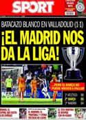 Portada diario Sport del 8 de Mayo de 2014