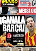 Portada Mundo Deportivo del 8 de Mayo de 2014