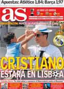 Portada diario AS del 9 de Mayo de 2014