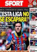 Portada diario Sport del 9 de Mayo de 2014