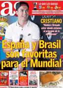Portada diario AS del 10 de Mayo de 2014