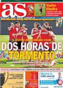 Portada diario AS del 11 de Mayo de 2014