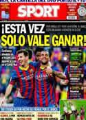 Portada diario Sport del 11 de Mayo de 2014