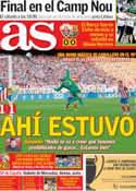 Portada diario AS del 12 de Mayo de 2014