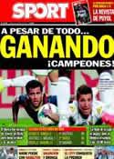 Portada diario Sport del 12 de Mayo de 2014