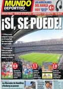 Portada Mundo Deportivo del 12 de Mayo de 2014