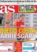 Portada diario AS del 13 de Mayo de 2014
