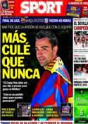 Portada diario Sport del 15 de Mayo de 2014