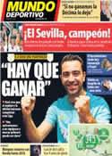 Portada Mundo Deportivo del 15 de Mayo de 2014
