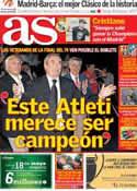 Portada diario AS del 16 de Mayo de 2014