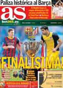 Portada diario AS del 17 de Mayo de 2014