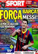 Portada diario Sport del 17 de Mayo de 2014