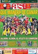 Portada diario AS del 18 de Mayo de 2014