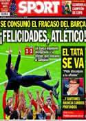 Portada diario Sport del 18 de Mayo de 2014