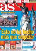 Portada diario AS del 19 de Mayo de 2014