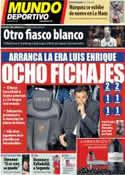 Portada Mundo Deportivo del 19 de Mayo de 2014