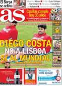 Portada diario AS del 20 de Mayo de 2014