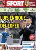 Portada diario Sport del 20 de Mayo de 2014