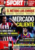 Portada diario Sport del 21 de Mayo de 2014
