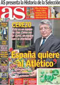 Portada diario AS del 22 de Mayo de 2014