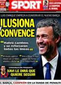 Portada diario Sport del 22 de Mayo de 2014
