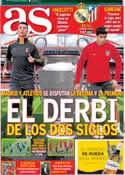 Portada diario AS del 24 de Mayo de 2014