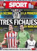 Portada diario Sport del 24 de Mayo de 2014