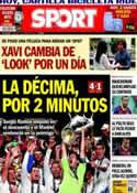 Portada diario Sport del 25 de Mayo de 2014