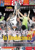 Portada diario AS del 26 de Mayo de 2014