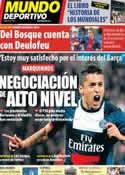 Portada Mundo Deportivo del 26 de Mayo de 2014