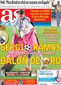 Portada diario AS del 27 de Mayo de 2014