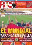Portada diario AS del 30 de Mayo de 2014
