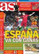 Portada diario AS del 31 de Mayo de 2014