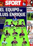 Portada diario Sport del 1 de Junio de 2014