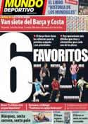 Portada Mundo Deportivo del 1 de Junio de 2014