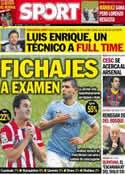 Portada diario Sport del 2 de Junio de 2014