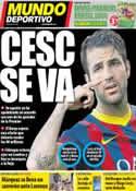 Portada Mundo Deportivo del 2 de Junio de 2014