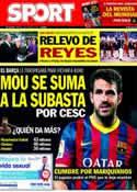 Portada diario Sport del 3 de Junio de 2014