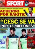 Portada diario Sport del 5 de Junio de 2014
